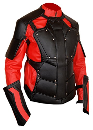 Deadshot Costume For Kids (F&H Boy's Will Smith Deadshot Suicide Squad Removable Shield Jacket M Multi)
