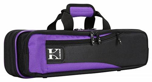 Kaces Lightweight Hardshell Flute Case, Purple, KBO-FLPP