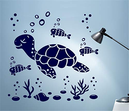 Mural Saying Wall Decal Sticker Art Mural Home Decor Quote Under The Sea for Bathroom Washroom Nursery Kids Room