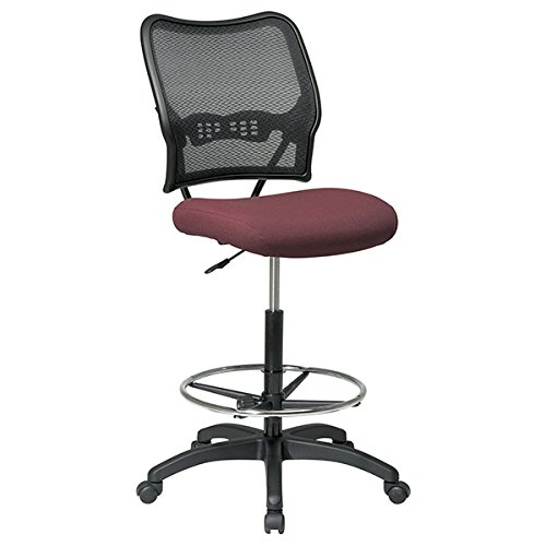 Office Star Air Gridback Drafting Chair-Drafting Stool, Air Grid, 21-1/4''x25-1/2''x51'', Black by OSP