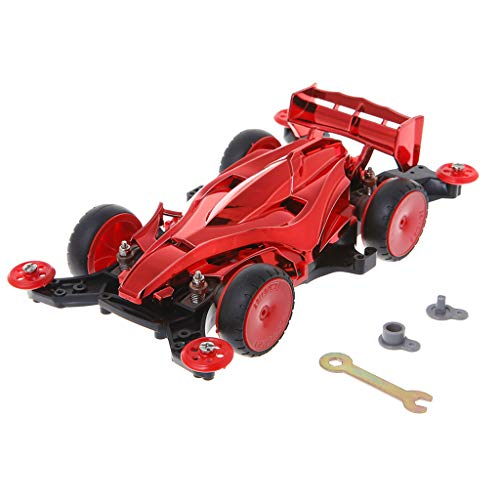 Kit 4wd Parts (Kofun Spare Parts for Car Toy, 1:30 Assembly DIY 4WD Racing Cars Toy Model Kits Gift for Children Ideal Christmas Birthday Spare Parts for Car Toy Gift for Kids Red)
