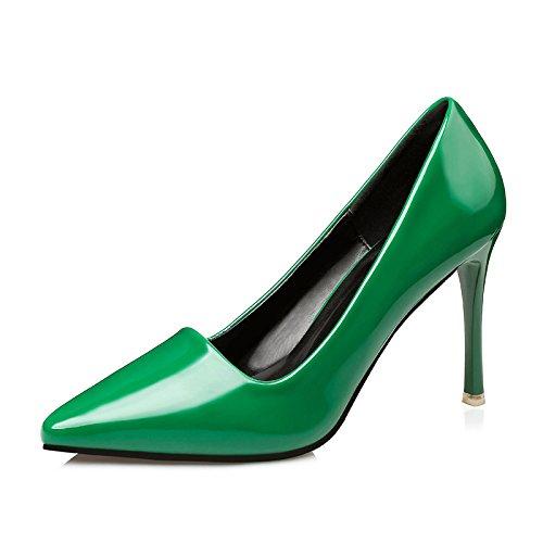FLYRCX Europäische Mode einfach fein mit flachen Mund Mund Mund Leder High Heels sexy Lady einzelnen Party Schuhe 1ab41c