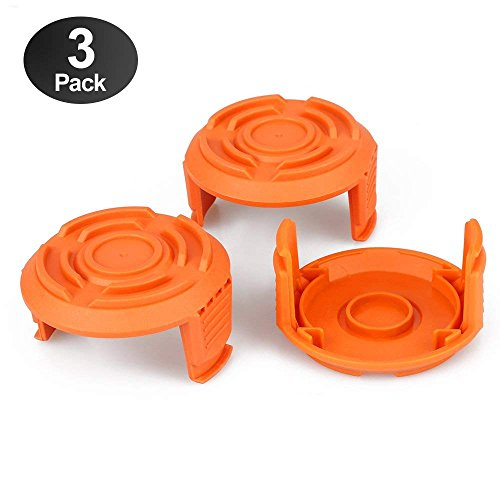 AIVS Trimmer Replacement Spool Cap Covers for Worx WA6531 GT Trimmer, 3-Pack by AIVS