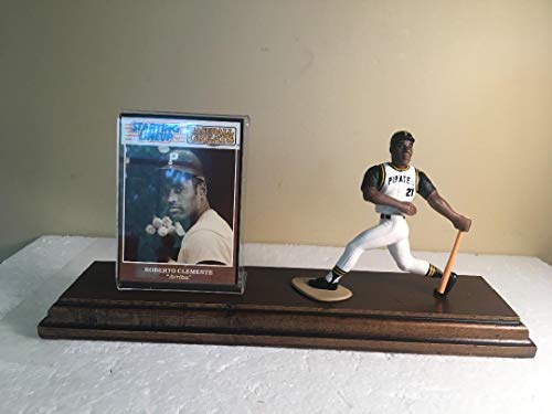 Roberto Clemente Pittsburgh Pirates Starting Lineup Figure Mounted Custom Made Wood Plaque ()