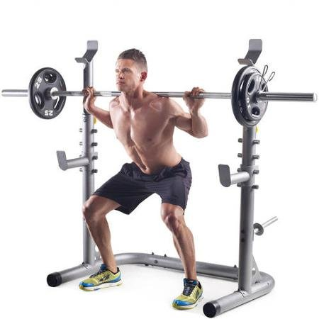 Gold's Gym Bench Presses and Squats Olympic Workout Lifting Rack