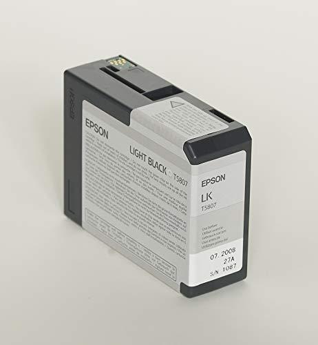 Epson T5807 UltraChrome K3 Light Black Cartridge Ink (Best Paper For Epson 3880)