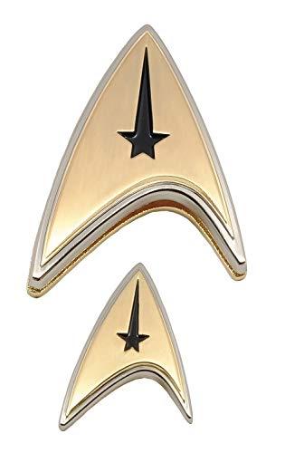 Quantum Mechanix Star Trek: Discovery: Enterprise Command Badge & Pin Set, Multicolor