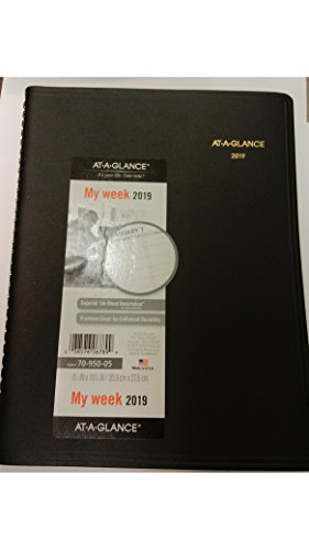 Book Appointment 05 Weekly (AT-A-GLANCE 70-950-05-2019 Weekly Appointment Book Quarter-Hourly Jan - Jan 8 1/4