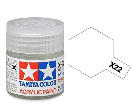 Tamiya 81522 - Pintura Acrílica Mini, Brillo Transparente Frasco de 10 ml, X-22