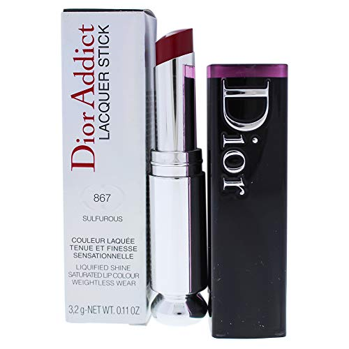 Dior Addict High Shine Lipstick - Christian Dior Dior Addict Lacquer Stick 867 Sulfurous for Women, 0.11 Ounce