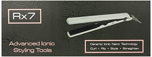 Price comparison product image RX7 Superlite Advanced Ionic 1 Inch Ceramic Flat Iron, Silver / White, 8 Ounce