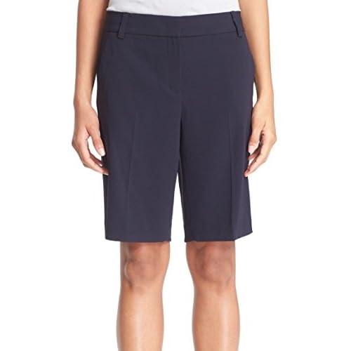Wholesale DKNY Navy Women's Crepe Welt-Pocket Dress Shorts Blue 2 free shipping