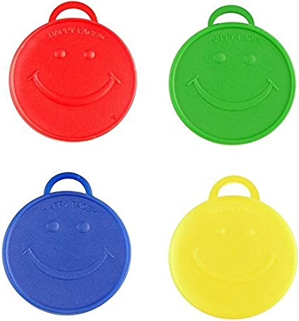 100g HAPPY STAR BALLOON WEIGHTS HEAVY RED BLUE YELLOW GREEN FOIL HELIUM