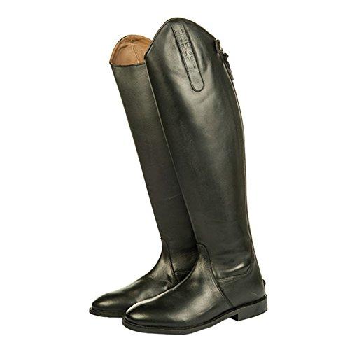 HKM–Botas de equitación Italy Soft Piel largo/alcance estrechas Negro - negro