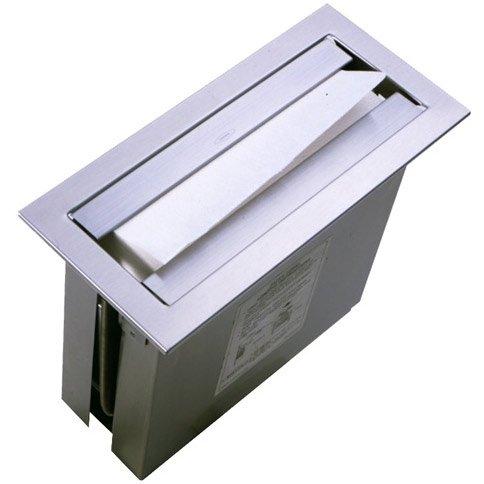 Bobrick Countertop Paper Towel Dispenser: TrimLine Series, Satin Stainless Steel, For C-Fold or Multi-Fold Towels, Model B-526