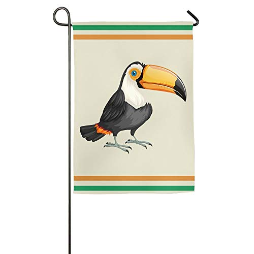 (Toucan Bird Nature Wild Wildlife Garden Flag Indoor & Outdoor Decorative Flags for Parade Sports Game Family Party Wall Banner 12 x 18)