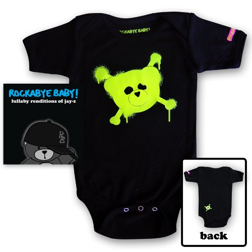 Rockabye Baby! Lullaby Renditions of Jay Z + Organic Baby Bodysuit (Green)