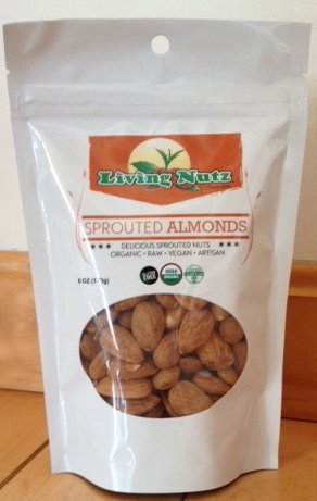 6oz Raw, unpasteurized brotado Almendras orgánicos: Amazon ...