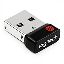 New Logitech Unifying Receiver USB Dongle for Logitech M185 Wireless Mouse Keyboard M185 M215 K230 K250 K270 MK270 N305 M310 M315 M317 K320 M325 MK330 K340 M345 K350 K360 K400 M505 M510 M515 MK520 M525 MK550 M560 M570 M600 MK605 T620 M705 MK710 K750 K800 TK820 K830 M905 MX (M950) by Laptopygp