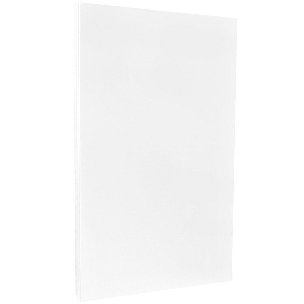 JAM PAPER Legal 80lb Cardstock - Glossy 2 Sided - 8.5 x 14 Coverstock - White - 250 Sheets/Pack