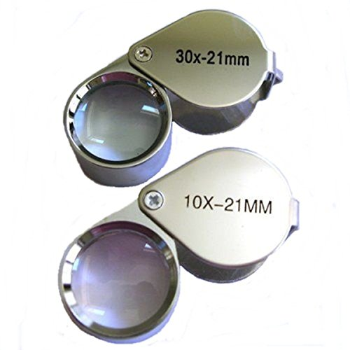 Bracket Viewfinder (10X 21mm Jeweler Loupe &30X21mm Foldable Magnifier)