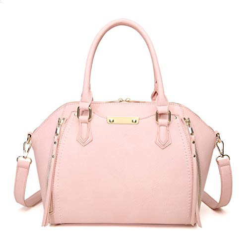 Aitbags Purses and Handbags for Women Tote with Shoulder Strap Big Crossbody Bag Pink ()