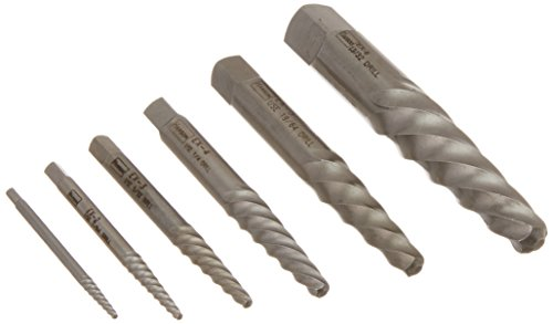 IRWIN HANSON Spiral Flute Screw Extractors, 6 Piece Set, 53545 ()
