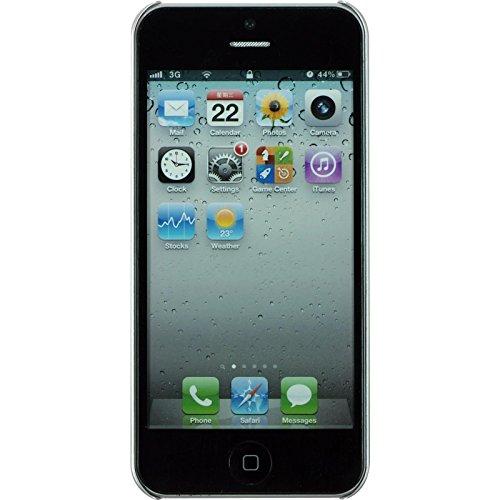 PhoneNatic Case für Apple iPhone 5 / 5s / SE Hülle blau Spiderweb Hard-case für iPhone 5 / 5s / SE + 2 Schutzfolien