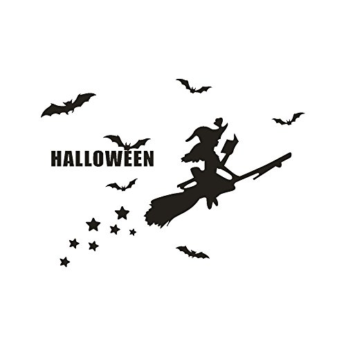 KIKOY Happy Halloween Bone Wall Sticker Window Home Decoration Decal Decor -