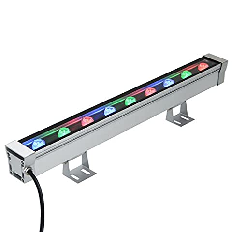 RSN LED Linear Bar Light Wall Washer 9W Colorful RGB Color Stage Lighting Aluminum Alloy IP65 (9 Dj Rack)