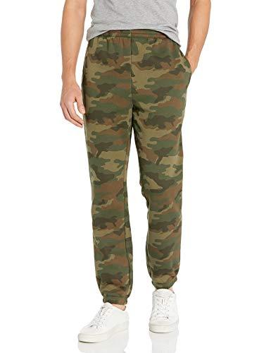 Amazon Essentials Men's Standard Closed Bottom Fleece Pant, Green Camo, X-Large (Sweatpants Camo Men)