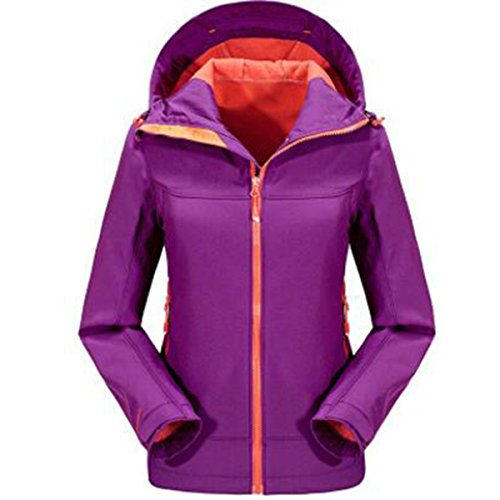 Impermeabile Warm Outdoor Antivento Purple Abbigliamento Fleece Da Donna Softshell Giacche Montagna Sports qw44UF