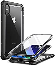 i-Blason Ares Full-Body Rugged Clear Bumper Case for iPhone Xs Max 2018 Release, Black, 6.5&
