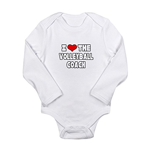 CafePress - I Love The Coach Volleyball Body Suit - Cute Long Sleeve Infant Bodysuit Baby Romper