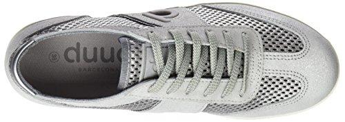 plateado Donna Sneaker Emma Duuo 58 Metalizado Grigio w0IEw5q