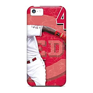 Durable Hard Phone Cases For Iphone 5c With Customized Vivid Cincinnati Reds Pattern TimeaJoyce