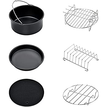 Air Fryer Accessories, Phillips Air Fryer Accessories and Gowise Air Fryer Accessories Fit all 3.2QT - 5.8QT, Set of 6-7 inch