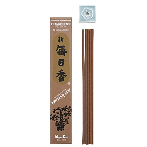 Morning Star Japanese Incense Sticks Frankincense 50 Sticks & holder'