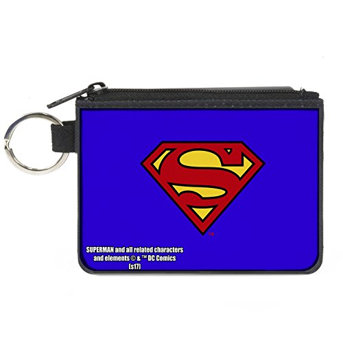 Music Coin Purse (Buckle-Down Buckle-Down Canvas Coin Purse Superman Accessory, -Superman, 4.25