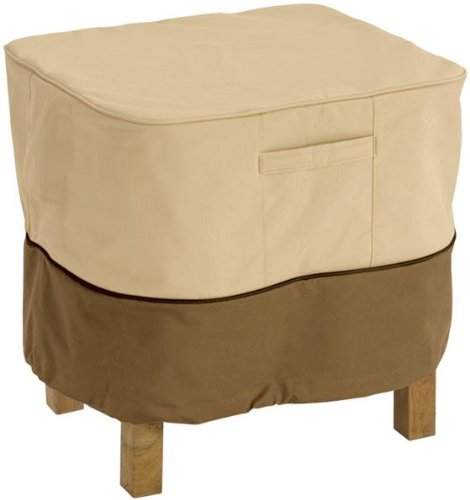 Classic Accessories Veranda Square Patio Ottoman/Side Table Cover – Durable and Water Resistant Patio Furniture Cover, Small (70972)