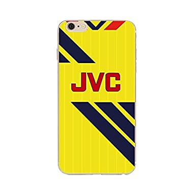 los angeles 06045 6e39d Arsenal FC Style Away Retro Shirt Kit iPhone 7 & 8 Phone Case Cover