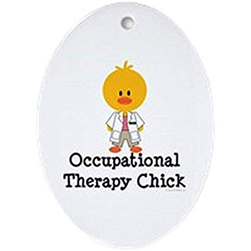 Occupational Therapy Chick - Oval Holiday Christmas Ornament (Occupational Christmas Ornaments)