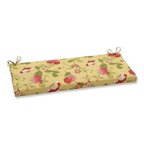 Risa Lemonade - Pillow Perfect Indoor/Outdoor Risa Bench Cushion, Lemonade