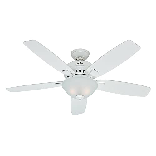 Hunter Fan Company Hunter 53177 Transitional 52 Ceiling Fan from Banyan Collection Finish, inch, Snow White