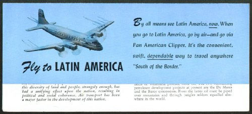 Fly Pan Am - Colombia travel folder 1940s