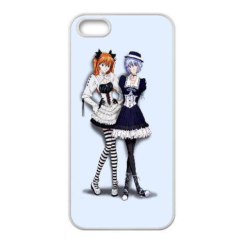 Ayanami And Asuka Neon Genesis Evangelion coque iPhone 4 4S Housse Blanc téléphone portable couverture de cas coque EBDOBCKCO11774