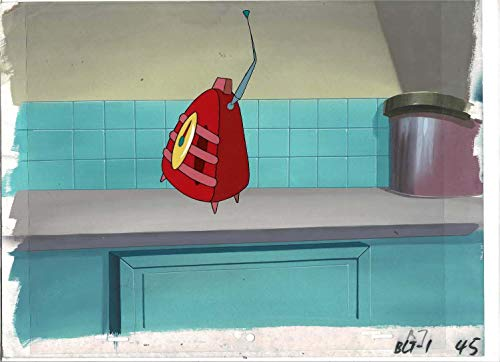 1 The Brave Little Toaster: Goes to Mars Original Animation Production Cel With Production Background
