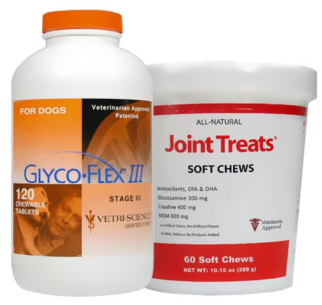 Glyco Flex III (120 Tablets) + FREE Joint Treats 60 Soft Chews