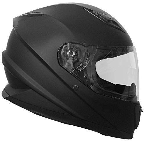 Integralhelm Helm Motorradhelm RALLOX 62 Schwarz Matt Größe M Sturzhelm