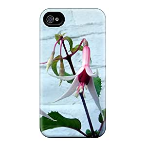 Durable Protector Case Cover With A Fuchsia Hot Design For Iphone 4/4s